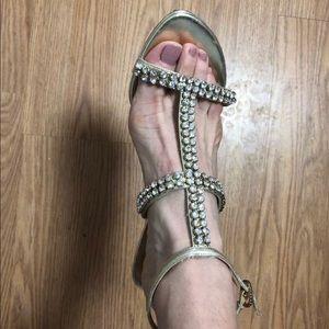 A. Marinelli Stiletto Heels - Diamond and gold.